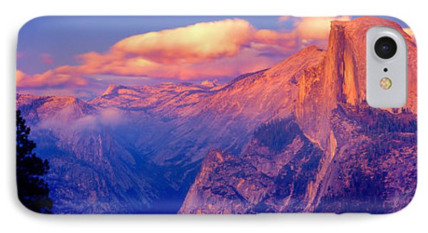 Sunlight Falling On A Mountain, Half IPhone Case by Panoramic Images