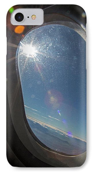 Sunlight Flare In Aircraft Window IPhone Case by Jim West