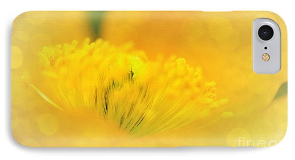Sunlight On Poppy Abstract Phone Case by Kaye Menner