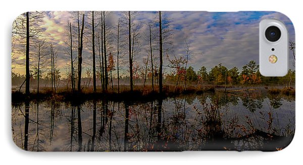 Sunrise Along The Mullica River In Pinelands IPhone Case by Louis Dallara