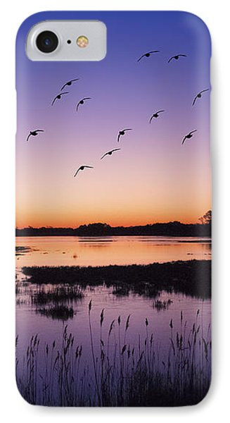 Sunrise At Assateague - Wetlands - Silhouette  IPhone 7 Case by Shara Lee