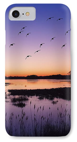 Sunrise At Assateague - Wetlands - Silhouette  IPhone Case by Shara Lee