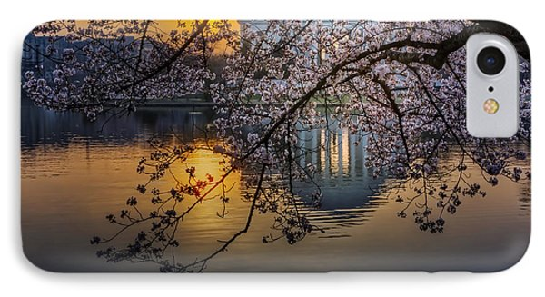 Sunrise At The Thomas Jefferson Memorial IPhone Case by Susan Candelario