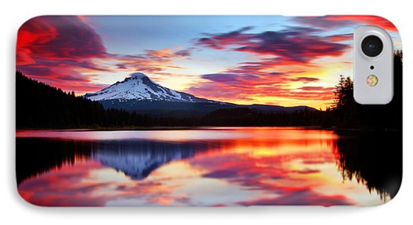 Sunrise On The Lake IPhone 7 Case by Darren  White