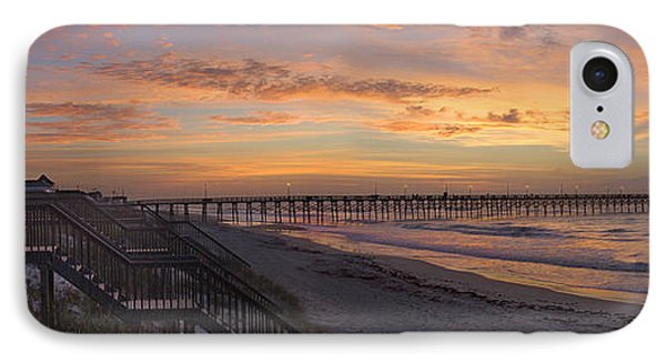Sunrise On Topsail Island Panoramic IPhone Case by Mike McGlothlen