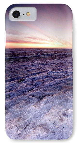 Sunrise Over A Frozen Beaufort Sea IPhone Case by Chris Madeley