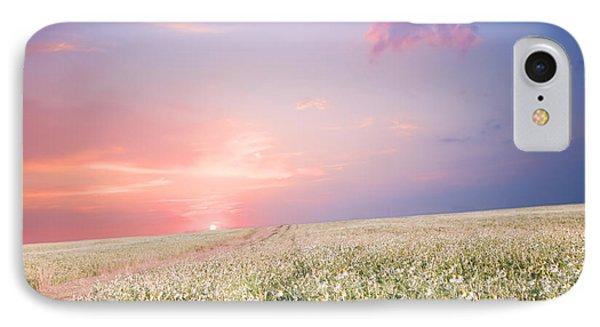 Sunrise Over Flower Land Phone Case by Michal Bednarek