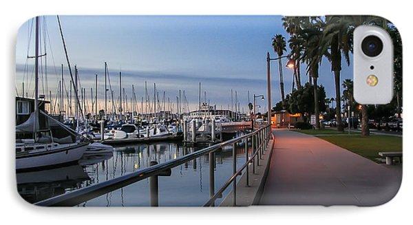 Sunrise Over Santa Barbara Marina IPhone Case by Tom Mc Nemar