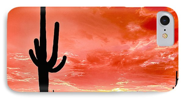 Sunrise Saguaro National Park Phone Case by Bob and Nadine Johnston