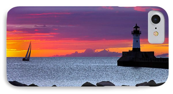 Sunrise Sailing IPhone Case by Mary Amerman