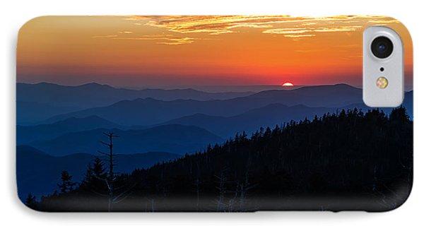 Sun's Last Peak Over The Blue Ridge IPhone Case by Andres Leon