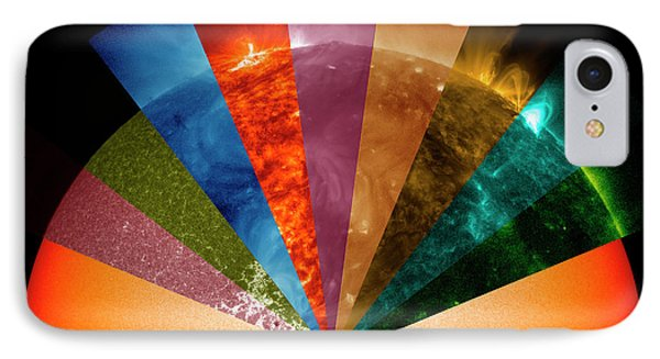 Sun's Surface At Different Wavelengths IPhone Case by Nasa Goddard Space Flight Center