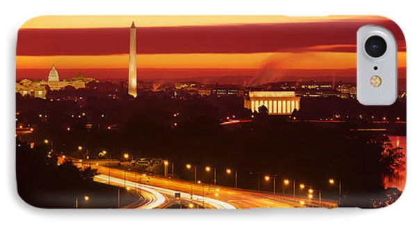 Sunset, Aerial, Washington Dc, District IPhone 7 Case by Panoramic Images