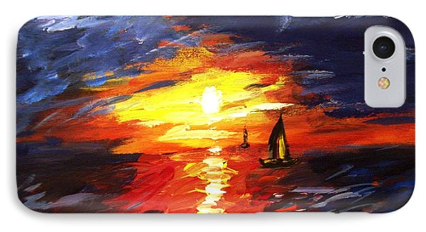 Sunset And Sails Phone Case by Michael Grubb