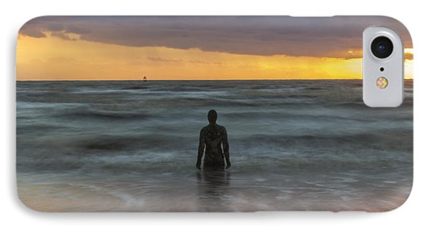 Sunset At Crosby Beach Liverpool IPhone Case by Paul Madden