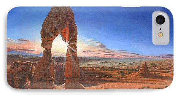 Sunset At Delicate Arch Utah IPhone Case by Richard Harpum