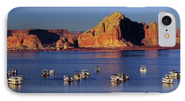 Sunset At Wahweap Marina, Glen Canyon IPhone Case by Michel Hersen