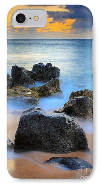 Sunset Beach Rocks IPhone Case by Inge Johnsson