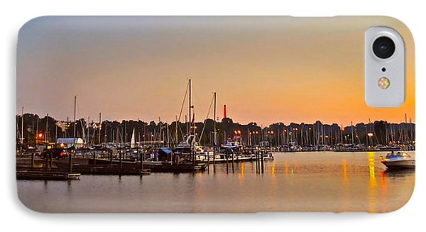 Sunset Fishing Phone Case by Frozen in Time Fine Art Photography