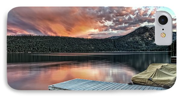 Sunset From Pier IPhone Case by Maria Coulson