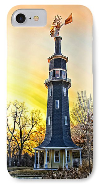 Sunset On The Dwight Windmill Phone Case by Thomas Woolworth