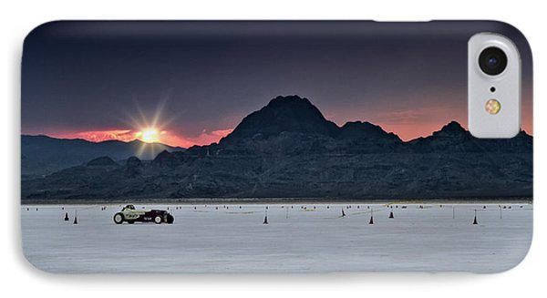 Sunset On The Salt Bonneville 2012 IPhone Case by Holly Martin