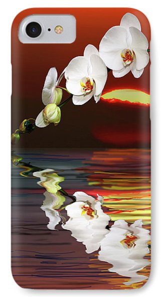 Sunset Orchids Phone Case by Angela A Stanton