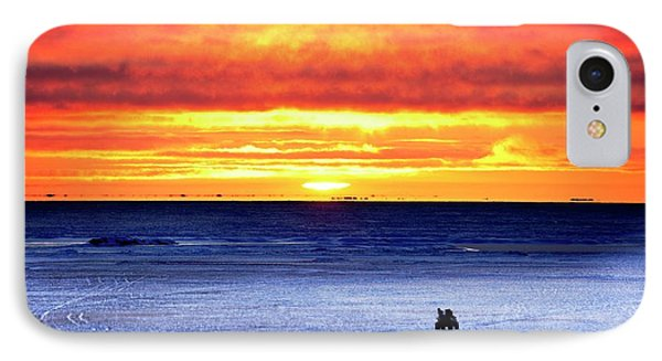 Sunset Over Beaufort Sea Alaska IPhone Case by Chris Madeley