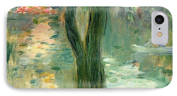 Sunset Over The Lake Bois De Boulogne Phone Case by Berthe Morisot