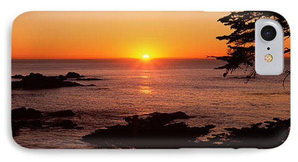 Sunset Over The Sea, Point Lobos State IPhone Case by Panoramic Images