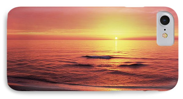 Sunset Over The Sea, Venice Beach IPhone 7 Case by Panoramic Images