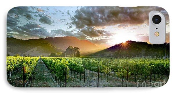 Wine Country IPhone Case by Jon Neidert