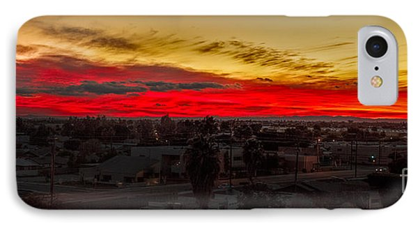 Sunset Over Yuma IPhone Case by Robert Bales