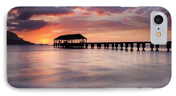 Sunset Pier IPhone Case by Mike  Dawson