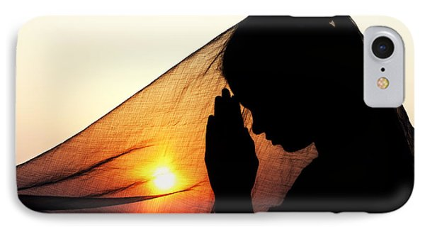 Sunset Prayers IPhone Case by Tim Gainey