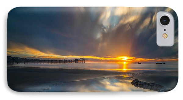 Sunset Reflections In San Diego Square Version IPhone Case by Larry Marshall
