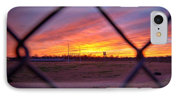 Sunset Through The Fence IPhone Case by Tim Stanley