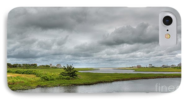 Sunshine And Heavy Clouds Over Dennisport IPhone Case by Michelle Wiarda