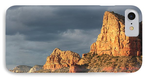 Sunshine On Sedona Rocks IPhone Case by Carol Groenen