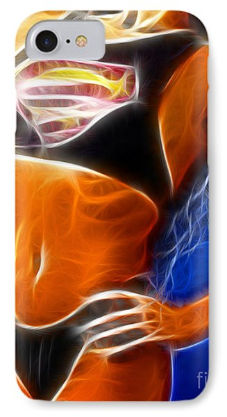 Superman 1 Fractal IPhone Case by Gary Gingrich Galleries