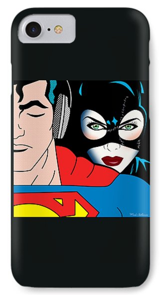 Superman And Catwoman  IPhone Case by Mark Ashkenazi