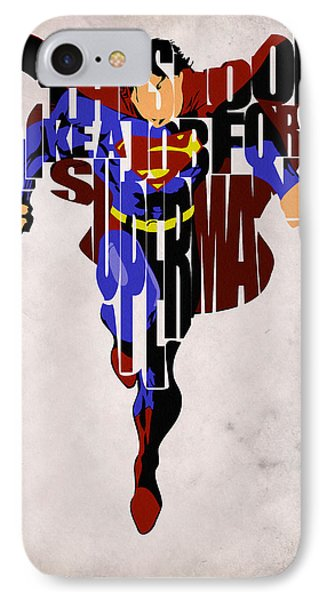Superman - Man Of Steel IPhone Case by Ayse Deniz