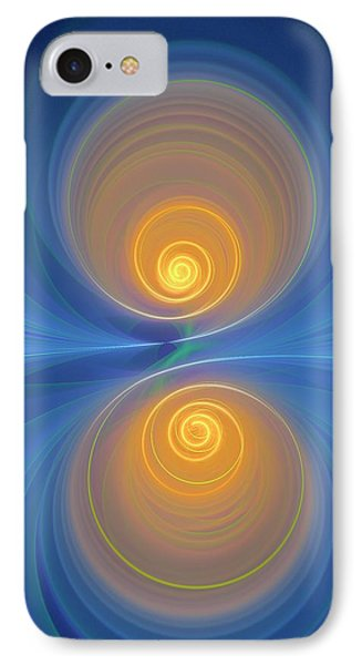 Supersymmetry And Or Bipolarity IPhone Case by David Parker