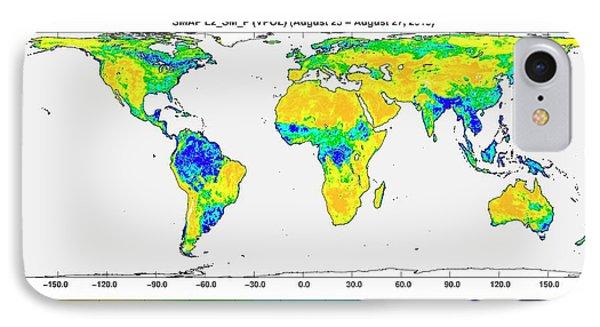 Surface Soil Moisture IPhone Case by Nasa/jpl-caltech/gsfc