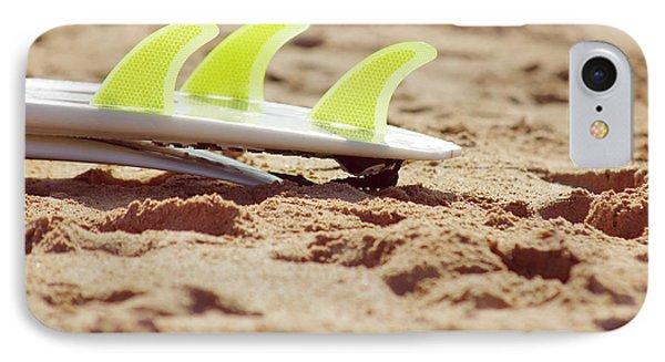 Surfboard Fins IPhone Case by Carlos Caetano