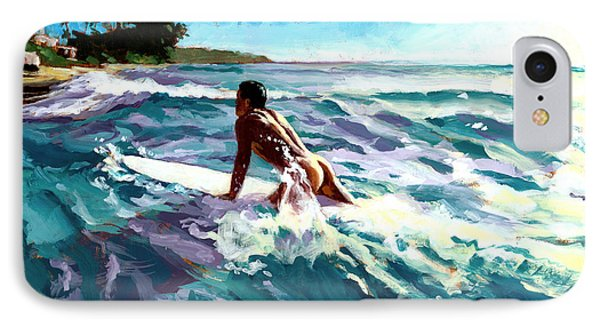 Surfer Coming In IPhone Case by Douglas Simonson