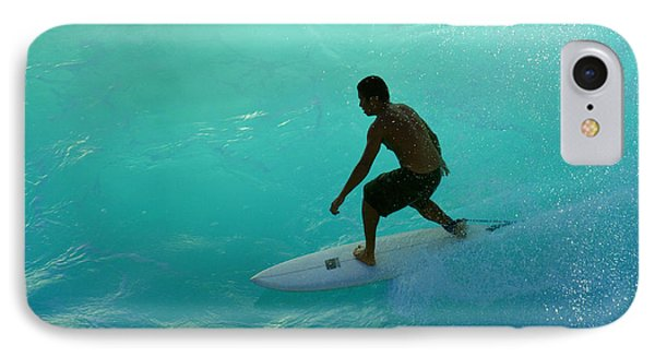 Surfer In The Zone IPhone Case by Bob Christopher