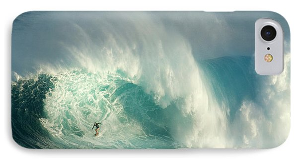 Surfing Jaws 3 IPhone Case by Bob Christopher