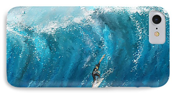 Surf's Up- Surfing Art IPhone Case by Lourry Legarde