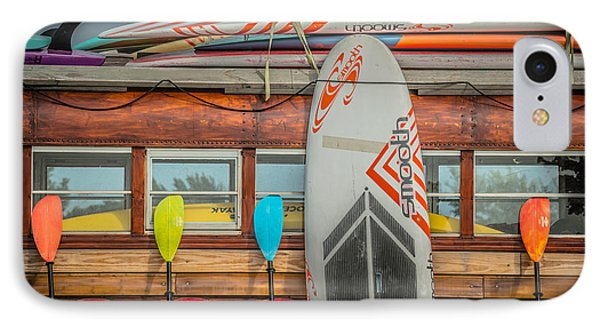 Surfs Up - Vintage Woodie Surf Bus - Florida IPhone Case by Ian Monk